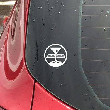 The Bay Lake Society Window Decal
